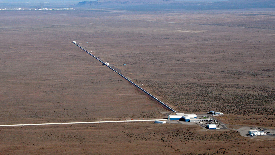 Aerial view of LIGO Hanford Observatory