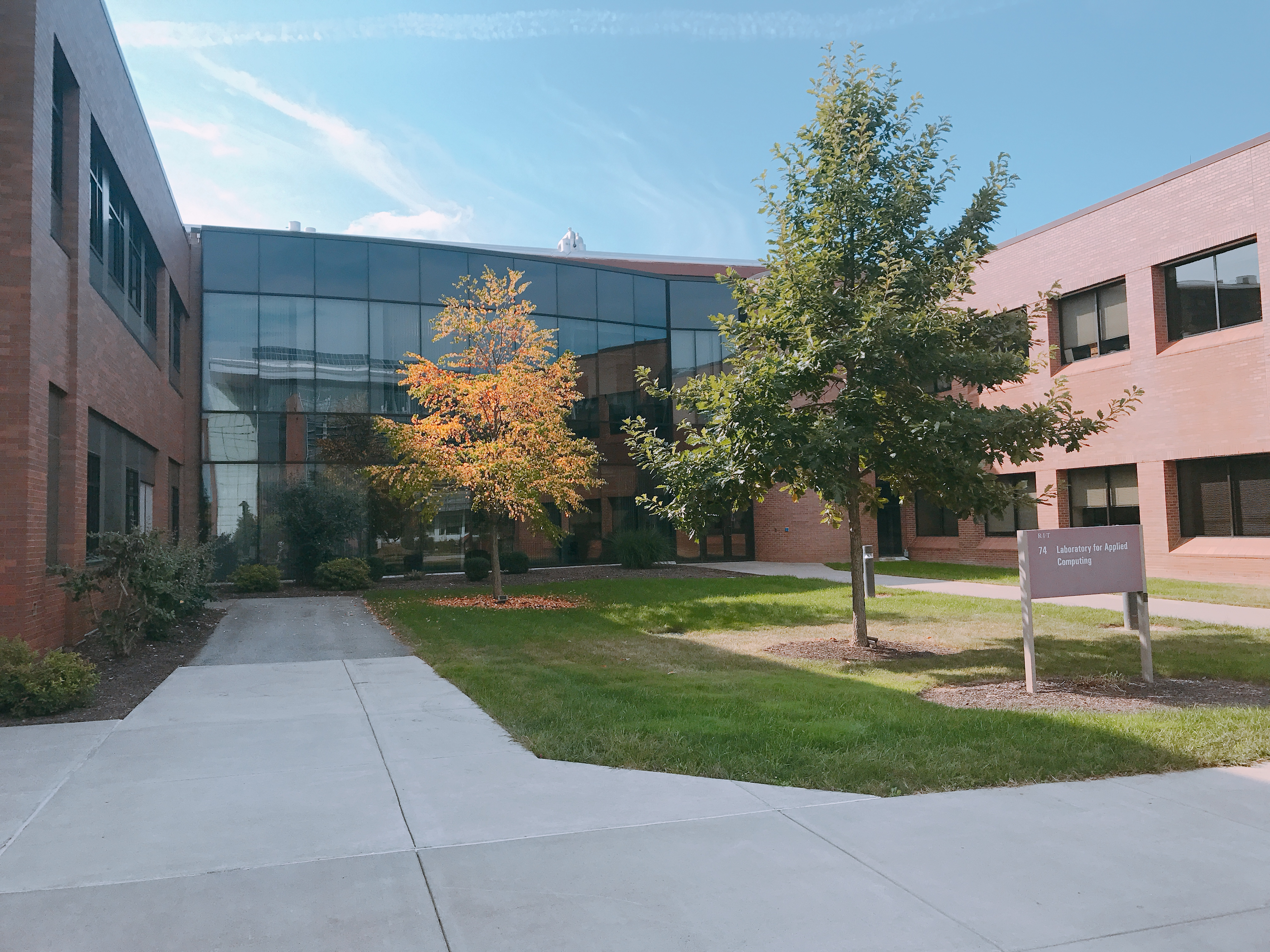 The CCRG is located on the 2nd floor of RIT's Building 74, the Laboratory for Applied Computing